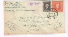 Netherland Indie 1946? Cover to US +SS Martin in Singapore +Batavia CDS +Unusual