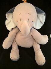 Peluche doudou elephant creme gris  bleu Bao 40 cm etat neuf