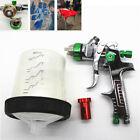 Hvlp Spray Gun Auto Paint Car Primer Detail Basecoat Clearcoat Wadapter Tank