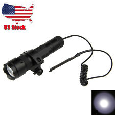 5000Lm 502B XM-L T6 LED Tactical Hunting Flashlight Torch Mount Light Rifle Gun