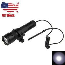 5000Lm 502B XM-L T6 LED Tactical Hunting Flashlight Torch Mount Light Rifle Gun