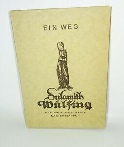 Ein Weg. Sechs Kupfertiefdruckkarten Kartenmappe 1 Sulamith Wülfing (B5