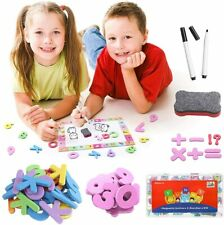 199 Pcs Magnetic Letters and Numbers Kit with Whiteboard & Storage Box for Kids