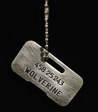 X-Men 1 & 2 Wolverine Replica Dog Tag prop replica, unlike others READ
