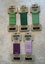 River Silk Premium Hand Dyed Ribbon Needlepoint Hand Embroidery Lot of 5