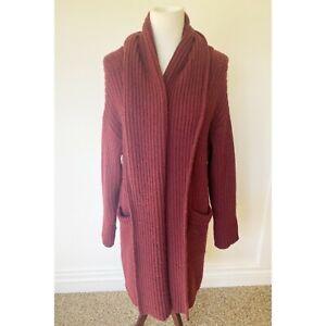 Hatch Chunky Cardigan Sweater Wool Sz One Size