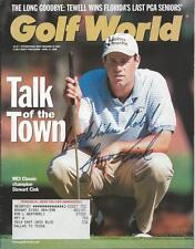 Stewart Cink Signed 2000 Golf World Full Magazine