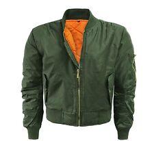 Ladies bomber classic MA1 pilot military army jacket XS S M L