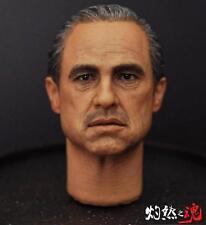 NEW 1/6 Scale The Godfather Marlon Brando Head Sculpt Headplay