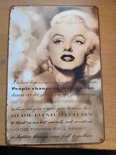 Metal Marilyn Monroe Beautiful Saying Black & White ... Sign Picture. 20x30cm.