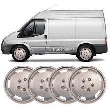 "Ford Transit Van 15 ""rueda Adornos X 4 Plata Deep Dish Tapacubos bulbosa Trim Nuevo"