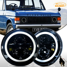 "Dot 7"" Round Led Headlights Hi/Lo Beam Land Rover Range Rover Classic 1970-1995"