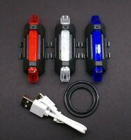 💥 USB Rechargeable 5 LED Bicycle Light Rear Tailight Road/MTB/Triathlon Bike🔥