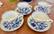 Blue Danube Japan - SET OF 4 - Coffee Tea Cup and Saucer