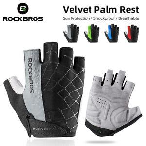 Men's Cycling Bike Half Finger Gloves Shockproof Breathable MTB Bicycle Gloves
