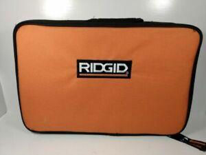 "NEW Ridgid Genuine Zippered Carrying Bag Tool Bag / case 14"" x 10"" x 3 1/2"""