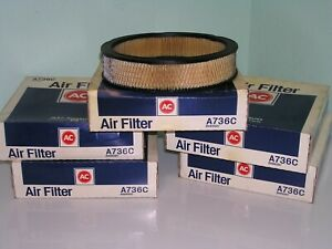 lot of 5 NOS AC Delco A736C 8996587 Air Filters