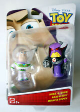 TOY STORY 2015 BUZZ LIGHTYEAR & ZURG FIGURE DISNEY PIXAR MATTEL NEW !