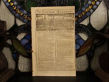 1756 London Magazine WITCHCRAFT Witches King Philip's War Indians Colonial USA