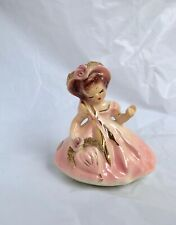 Vintage Josef Originals Days of the Week Series Thursday Pink Dress Figurine