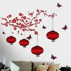 Red Branches & Flowers  Wall Sticker Home Decor Vinyl Decal Wall Poster