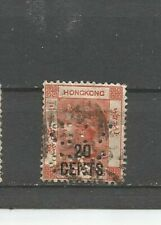 Perfins Hong Kong Queen Victoria Imprint 20 Cents China / Asien Old Stamps