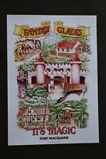 Fantasy Glades theme park poster A3 size new Old stock history dragon castle