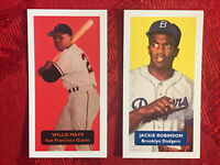 WILLIE MAYS & JACKIE ROBINSON BASEBALL CARDS-VERY RARE U.K.ISSUE-2 CARD LOT-MINT