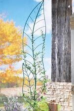 6 Ft. Tall Green Leaf Weatherproof Metal Climbing Trellis Garden Stake