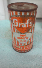 GRAF'S ONE CALORIE ORANGE FLAT TOP TOPS  SODA CAN CANS