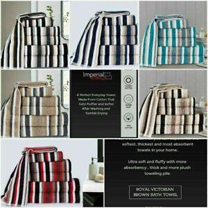 UK Limited Edition Stripe Bath Towel Bath Sheet and Bale Set Exclusive Range UK