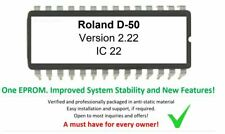 ROLAND D-50 - OS Ver. 2.22 UPGRADE EPROM Firmware Later Version D50 Synthesizer