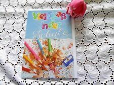 Glückwunschkarte Einschulung ABC Schulanfang Schule Pinsel Farbe bunt