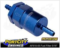 "Aeroflow 30 Micron Alloy Fuel Filter assembly 5/16"" Barb Petrol AF610-05"