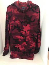 Polo Ralph Lauren Men SZ M 1/4 Zip Performance Hoodie Red Camouflage Camo New