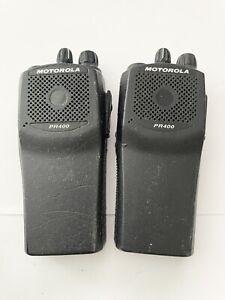 Lot of 2 - Motorola Radios PR400  AAH65KDC9AA2AN   16 Channel VHF - No battery