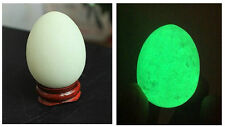 "85g ""Glow In The Dark"" Quartz Crystal Sphere Egg - Green Luminous! + Stand"