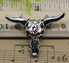Free Shipping 5pcs Jewelry Making DIY Cow Skull Alloy Charm Pendant 26x36mm