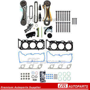 Head Gasket & Bolt Set Timing Chain Kit 01-03 Ford Mazdda Mercury 4.0L V6 SOHC