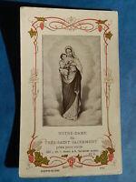 IMAGE PIEUSE NOTRE DAME DE GRACES TOURS  GOISSE  1910  THFR
