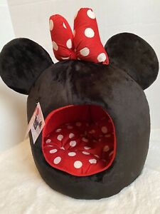 Disney Minnie Mouse Dome Kitten Puppy Cat Dog Plush Pet Bed Super Soft NWT
