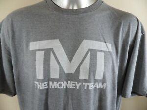 Floyd Mayweather The Money Team TMT Boxing Gym XXL T Shirt Soft Gray