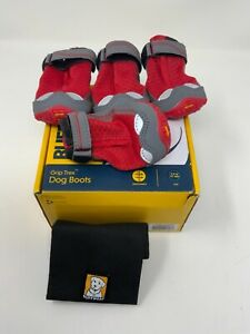 """Ruffwear Grip Rex Dog Boots Size 2.0"""" 51mm 4 Boots Red Currant New In Box"""