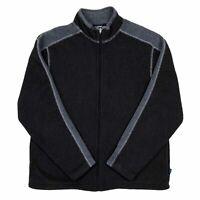 Kuhl Alfpaca Fleece Sweater Jacket Size Large Full Zip Brown Gray