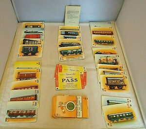 Vintage 1940'S PEPYS 1st Ed EXPRESS Railway Train Playing Card Game & Rules