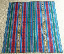 Peruvian  Multi-color Fabric - Tablecloth - Rug - Blanket