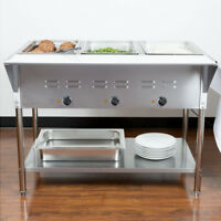 "43"" 3 Pan Restaurant Electric Steam Table Buffet Food Warmer Commercial 120V NEW"