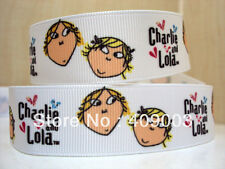 "Charlie and Lola Ribbon 7/8"" Wide NEW UK SELLER FREE P&P"