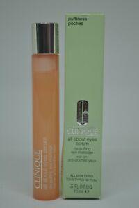 Clinique All About Eyes Serum De-Puffing Eye Massage BNIB 0.5fl.oz./15ml