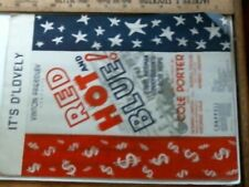 1936 Red Hot and Blue sheet music antique vintage old July 4 print sign picture